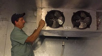 Carrier Technician With AC Unit